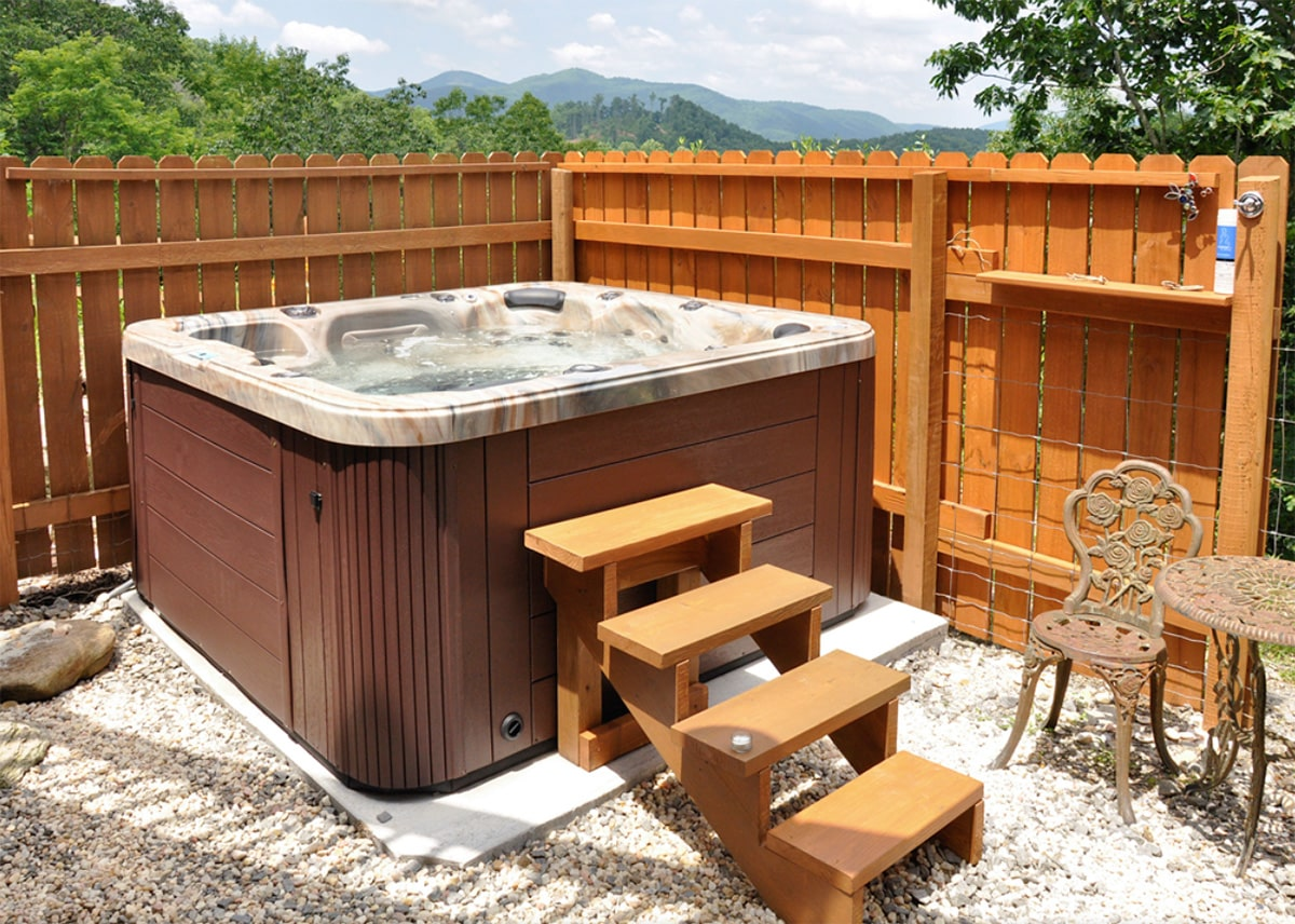 Mountain Leisure Hot Tub installation in North Carolina