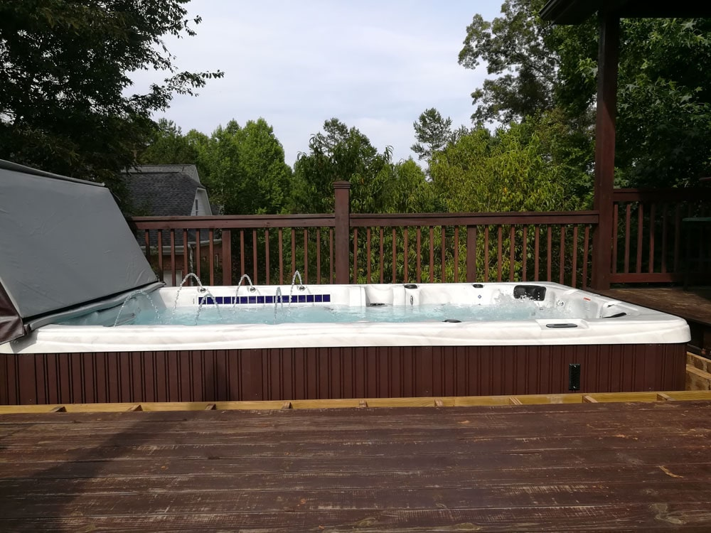 Upstate South Carolina hot tub installation